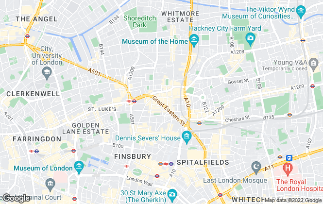 Map for Base Property Specialists, Shoreditch