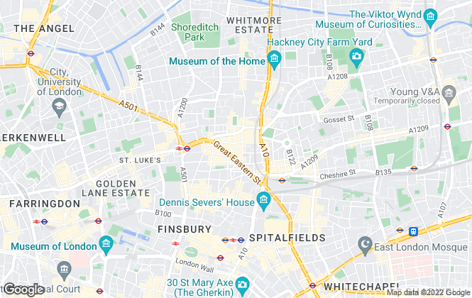 Map for Dexters, Shoreditch