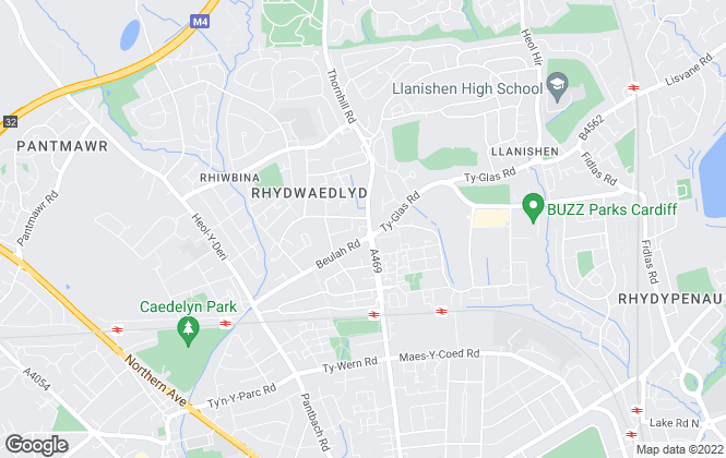 Map for Peter Alan, Rhiwbina