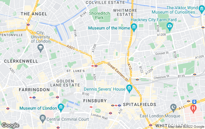 Map for Austin Homes, London