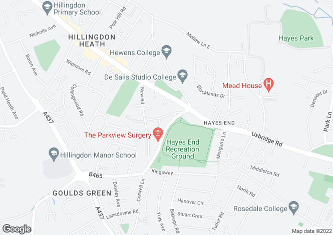 Map for West Drayton Road, Hillingdon, Middlesex, UB8