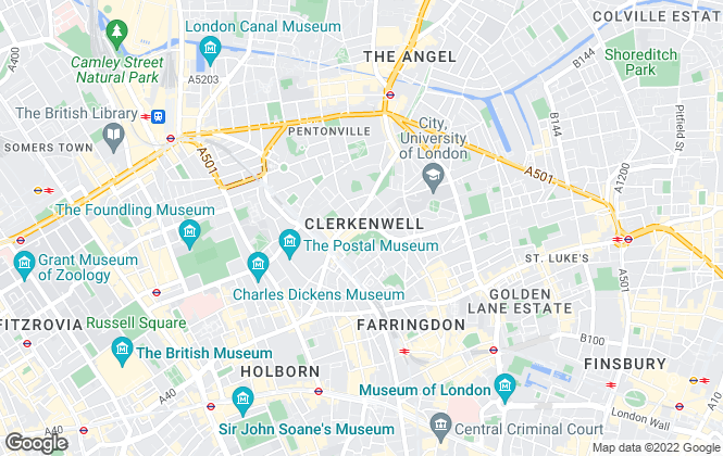 Map for Winkworth, Clerkenwell