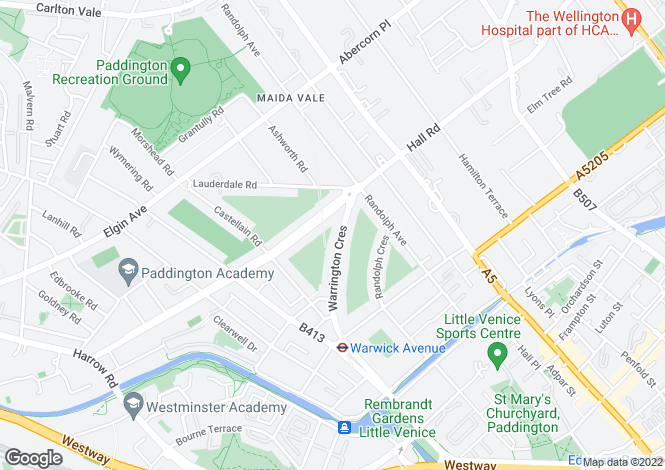 Map for Warrington Crescent, London, London