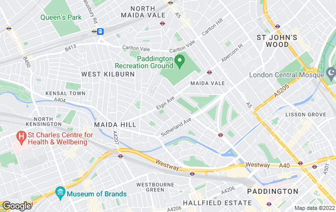 Map for Properties Actually, Maida Vale
