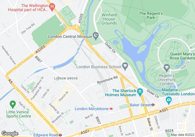 Map for Palgrave Gardens, Regent's Park, NW1