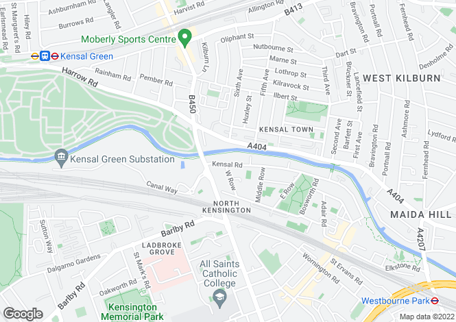 Map for Kensal Road, Ladbrooke Grove, London, W10 5BZ