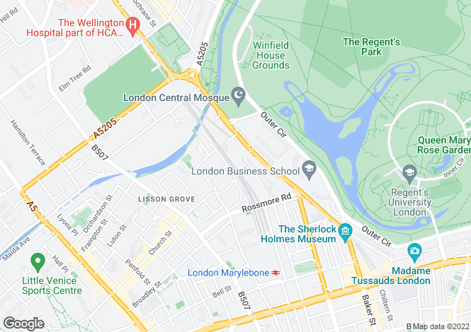 Map for Alberts Court, Palgrave Gardens, NW1