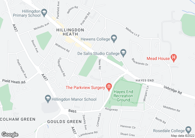 Map for New Road, Hillingdon