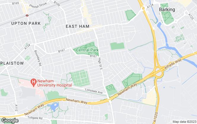 Map for CentralParkEstates.co.uk Ltd, East Ham