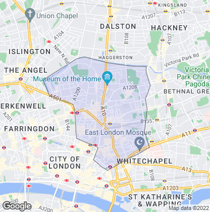 Map of property in Shoreditch