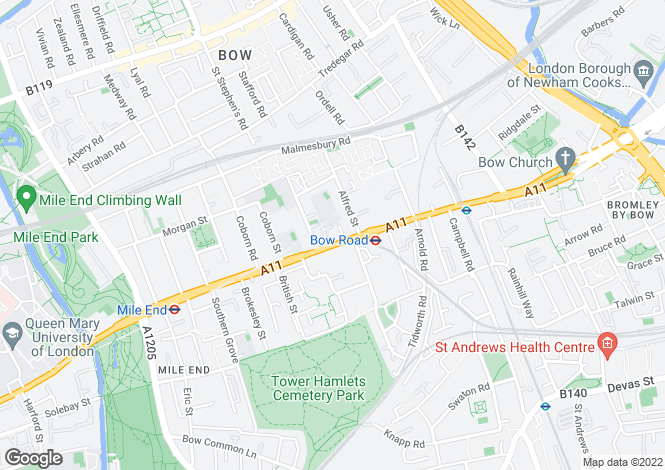 Map for Bow Road E3