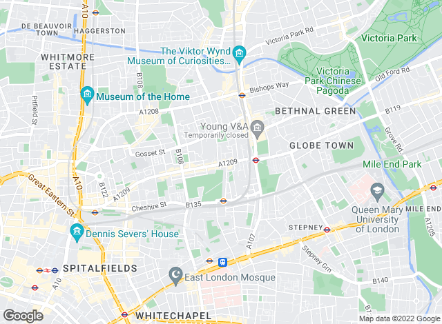 Map for Lloyds Residential, Bethnal Green