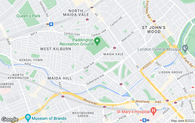 Map for Compton Reeback, London