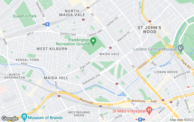 Map for Greene & Co, Maida Vale