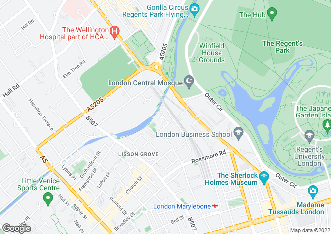 Map for Casey Close Regents Park