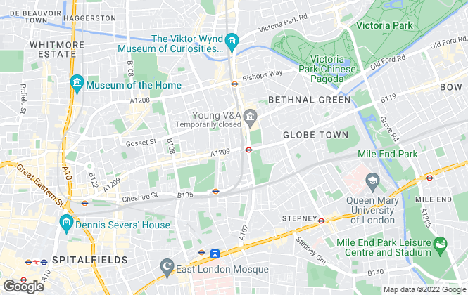 Map for Spencers Property Services, Bethnal Green
