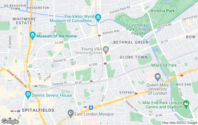 Map for Ellis and Co, Bethnal Green