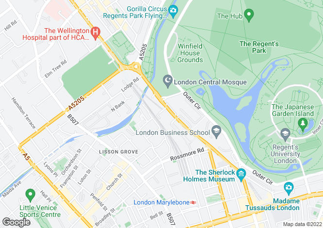 Map for Park Lorne, 111 Park Road, St John's Wood, City Of Westminster, NW8