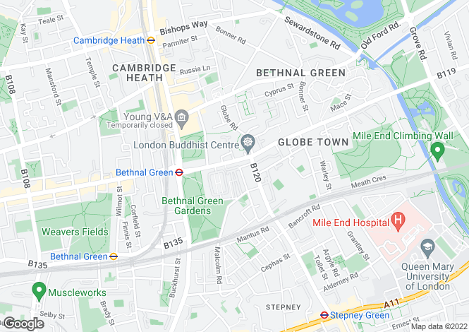 Map for Roman Road, London
