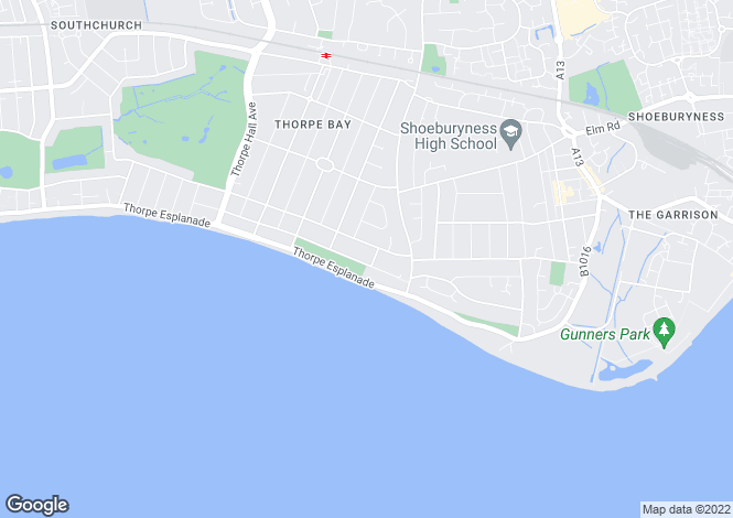 Map for Thorpe Bay Gardens, Thorpe Bay, Essex