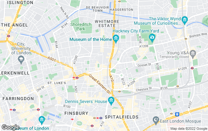 Map for MacArthur Morrison, London
