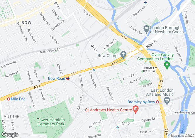 Map for Pryce House, Bow, London E3