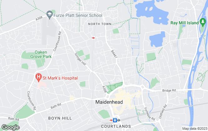 Map for Porter Penque, Maidenhead