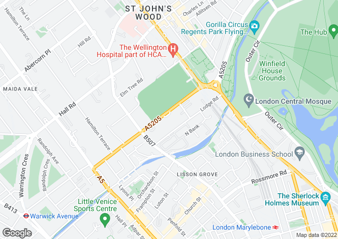 Map for The Pavilion Apartments, St John's Wood Road, St John's Wood, London, NW8