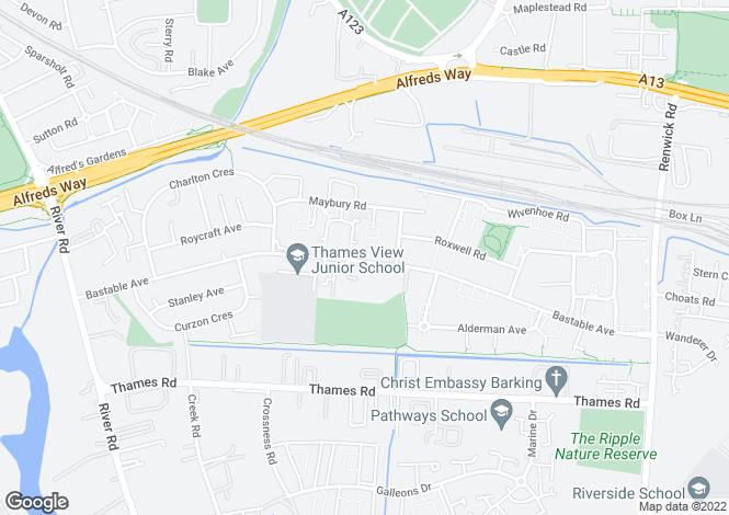Map for Bastable Avenue, BARKING