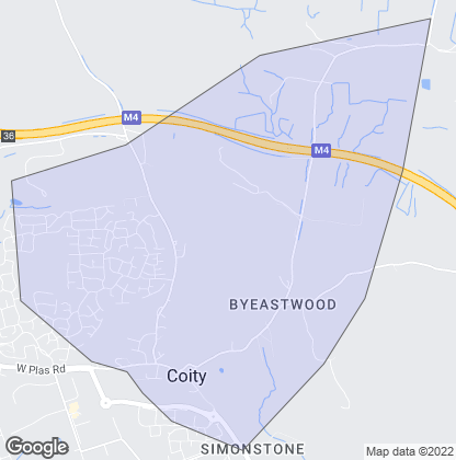Map of property in Coity