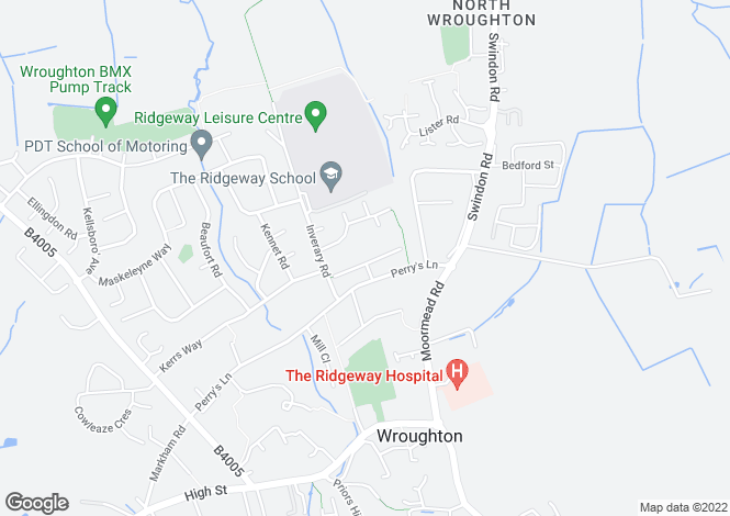 Map for Coventry Close, Wroughton, Wroughton, Wiltshire