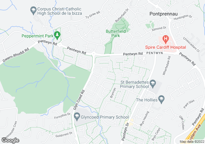 Map for Pentwyn, Cardiff