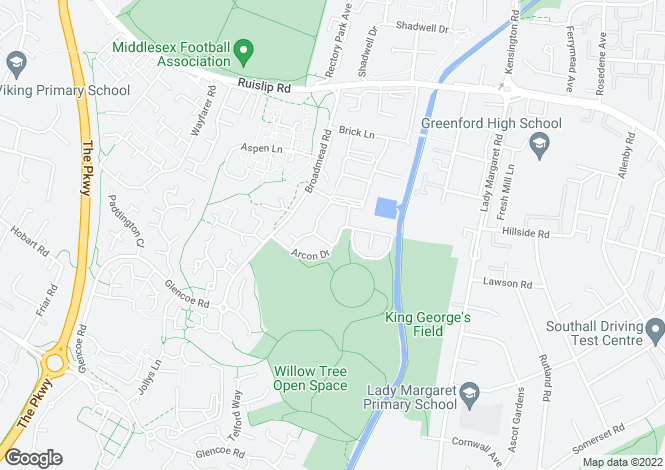 Map for Waxlow Way, Northolt