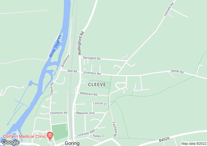 Map for Elvendon Road, Goring on Thames, RG8