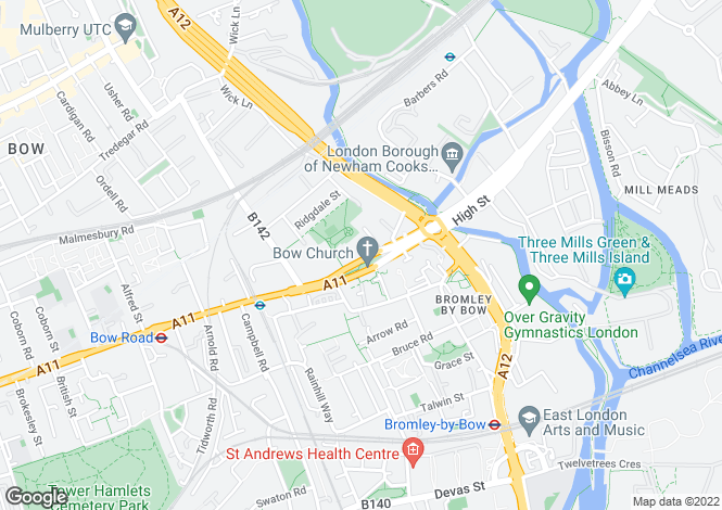 Map for Bow Road, Bow, London, E3 2SJ
