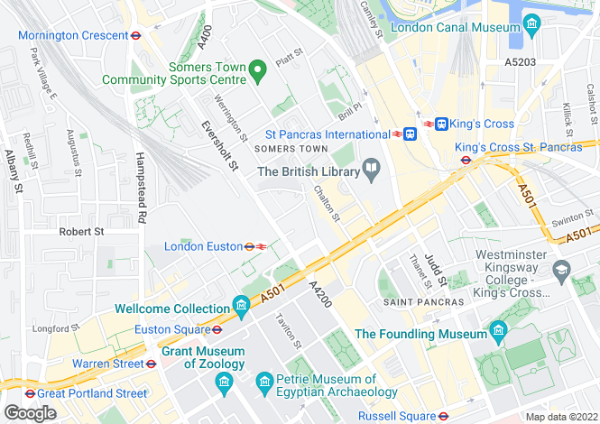 Map for Doric Way, Euston, London, NW1
