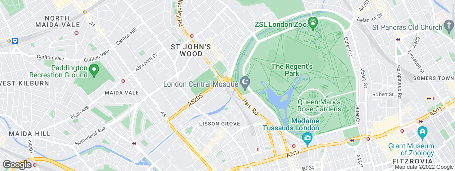 Map for Regal London