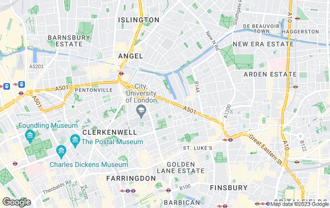 Map for Templeton Flagg, Pickard Street