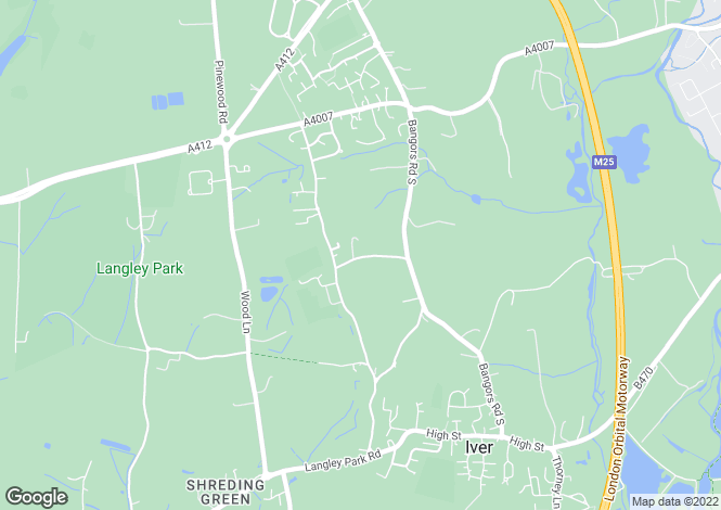 Map for The Cottage, Norwood Lane, Iver, Buckinghamshire