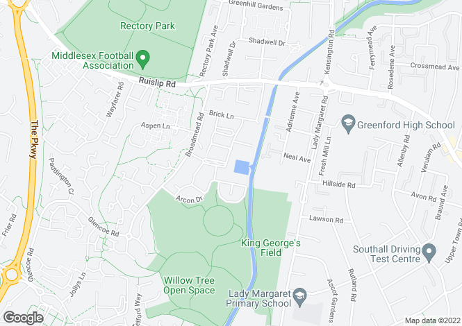 Map for Grand Union, Northolt, UB5
