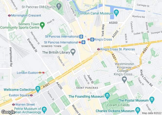 Map for St. Pancras Chambers, Euston Road, London, NW1