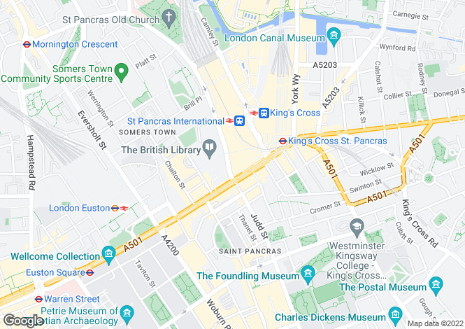 Map for St Pancras Chambers, NW1