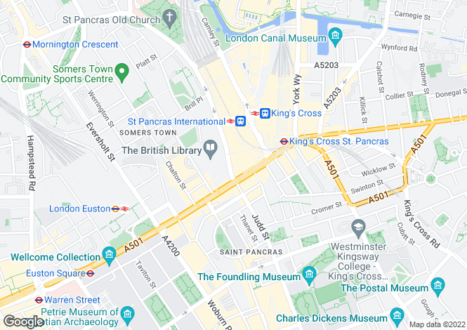 Map for St Pancras Chambers, London, NW1