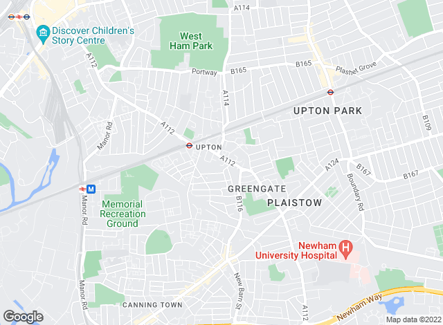 Map for Albany, Plaistow