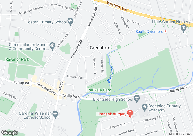 Map for Wedmore Road,