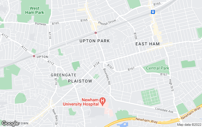 Map for Michael Steven, Plaistow