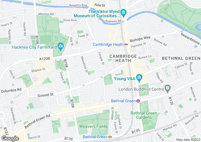 Map for Canrobert Street E2