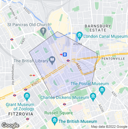 Map of property in St Pancras