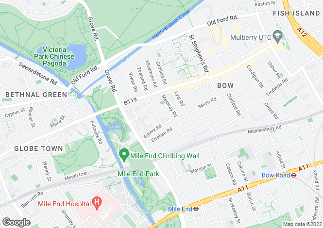 Map for Schoolbell Mews, Bow, London E3