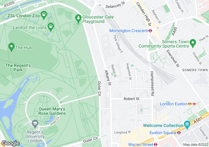 Map for Chester Place, Regent's Park, London